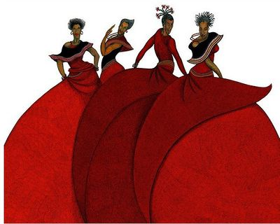 """Charles Bibbs Hand Signed and Numbered Limited Edition Remarque:""""Sisters In Motion"""""""