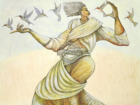 """Charles Bibbs Hand Signed and Numbered Limited Edition Giclee:""""Reminisce"""""""