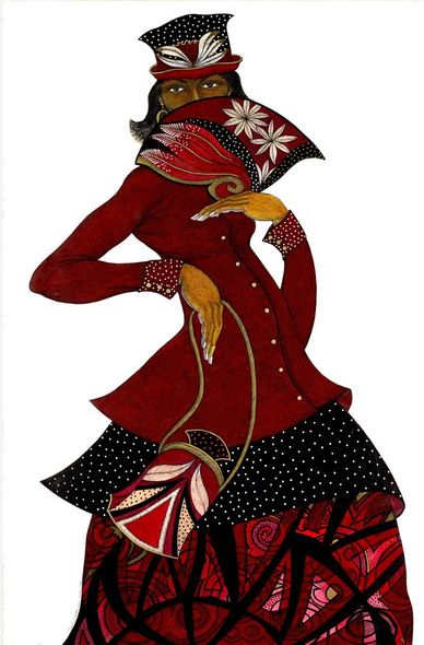 """Charles Bibbs Hand Signed and Numbered Limited Edition:""""Sister In Red"""""""