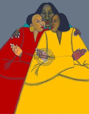 """Charles Bibbs Hand Signed and Numbered Limited Edition: """"Sisters"""""""