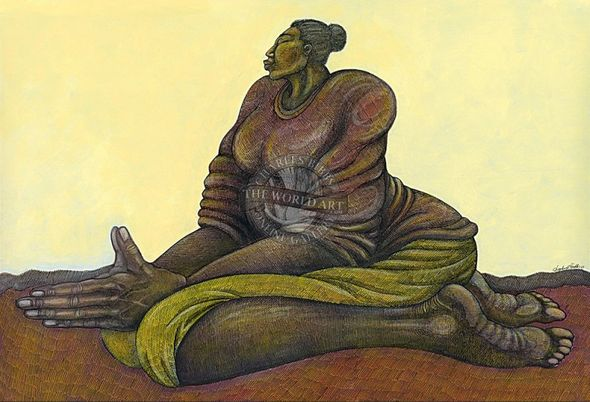 """Charles Bibbs Hand Signed and Numbered Limited Edition: """"Sunday Morning Prayer"""""""