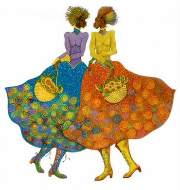"Charles Bibbs Hand Signed and Numbered Limited Edition:""Sunflower Girls"""