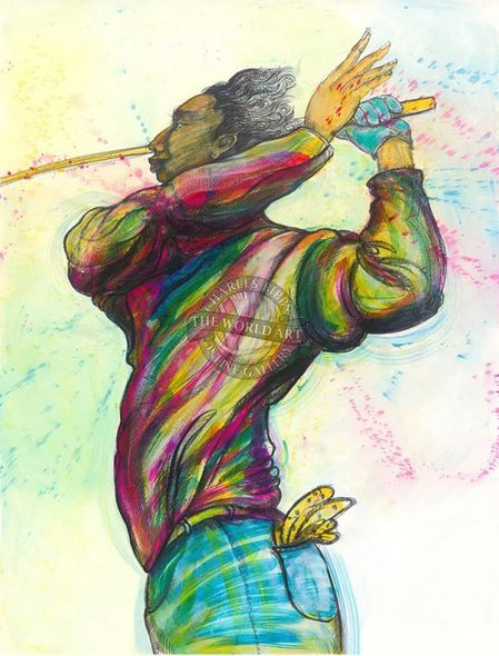 """Charles Bibbs Hand Signed and Numbered Limited Edition: """"Swingin'"""""""