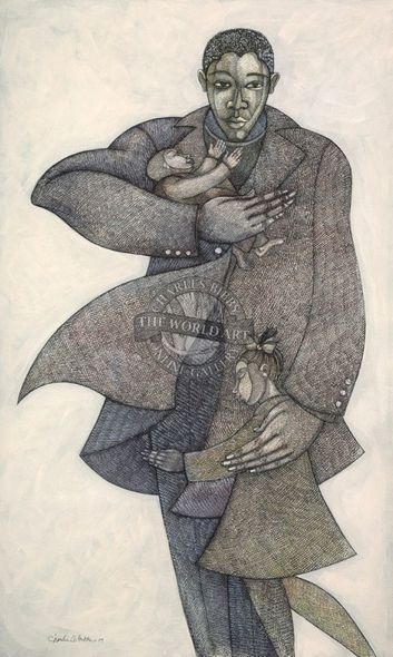 """Charles Bibbs Hand Signed and Numbered Limited Edition: """"The Caregivers II"""""""