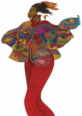 """Charles Bibbs Hand Signed and Numbered Limited Edition: """"The Mask Affair"""""""