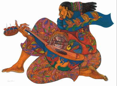 """Charles Bibbs Hand Signed and Numbered Limited Edition: """"The Music Maker 2"""""""