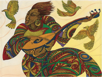 """Charles Bibbs Hand Signed and Numbered Limited Edition:""""The Music Maker 3"""""""