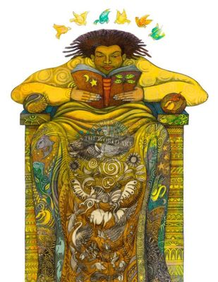 """Charles Bibbs Hand Signed and Numbered Limited Edition: """"The Reader II"""""""