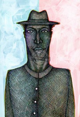 """Charles Bibbs Hand Signed and Numbered Limited Edition: """"Thin Man"""""""