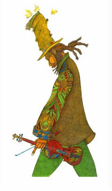 """Charles Bibbs Signed and Numbered Limited Edition Giclee Print:""""Bagman Fiddler, The"""""""