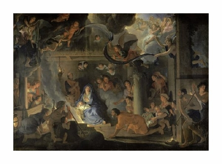 "Charles Le Brun Fine Art Open Edition Giclée:""Adoration of the Shepherds"""