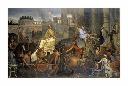 "Charles Le Brun Fine Art Open Edition Giclée:""Alexander's Entrance into Babylon"""