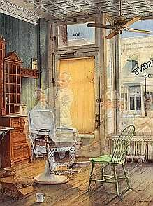"""CHARLES PETERSON 21X17 Secondary Market Art: """"FIRST HAIRCUT CE"""""""