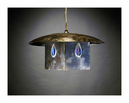 """Charles Rennie Mackintosh Fine Art Open Edition Giclée:""""A Metal and Leaded Glass Hanging Shade"""""""