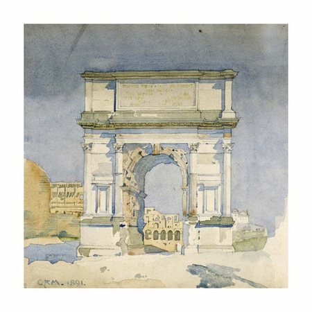 "Charles Rennie Mackintosh Fine Art Open Edition Giclée:""Rome, Arch of Titus"""