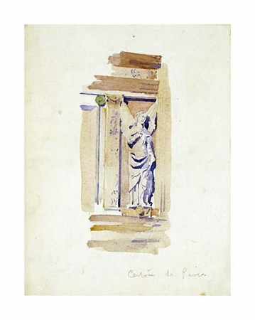 "Charles Rennie Mackintosh Fine Art Open Edition Giclée:""Study of an Angel Statue"""