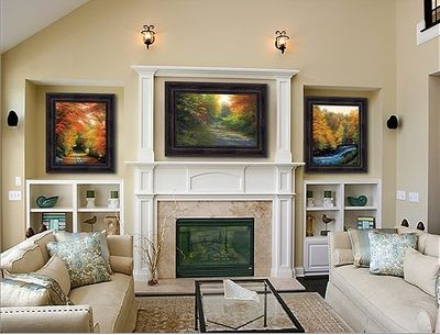 """Charles White Framed Brushstroked Canvas Giclee (Set of 3):""""Autumn Suite"""""""