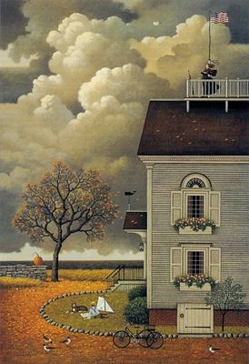 "CHARLES WYSOCKI 27X18 Secondary Market Art: ""YEARNING FOR CAPTAIN"""