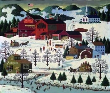 """Charles Wysocki Artist Handsigned and Numbered Legacy Limited Edition: """"Smoke Creek Landing"""""""