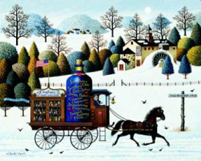 """Charles Wysocki Hand Signed and Numbered Limited Edition Print: """"Promises, Promises"""""""