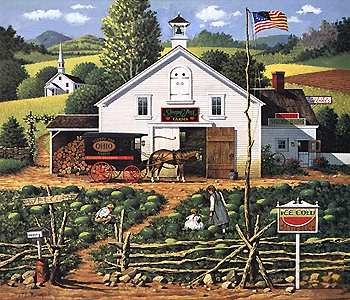 """Charles Wysocki Handsigned & Numbered Limited Edition:""""Catchin' Bugs"""""""
