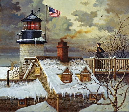 "Charles Wysocki Handsigned & Numbered Limited Edition Legacy Edition:""I Hope Your Seas Are Calm"""