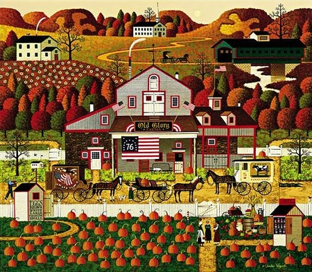 """Charles Wysocki Handsigned & Numbered Limited Edition Legacy Edition:""""Old Glory Farms"""""""