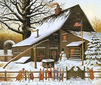 """Charles Wysocki Legacy Collection Limited Edition Print:""""Cocoa Break at the Copperfields"""""""
