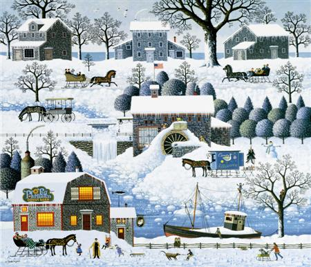 "Charles Wysocki Legacy Collection Limited Edition Print:""Plumbelly's Playground"""