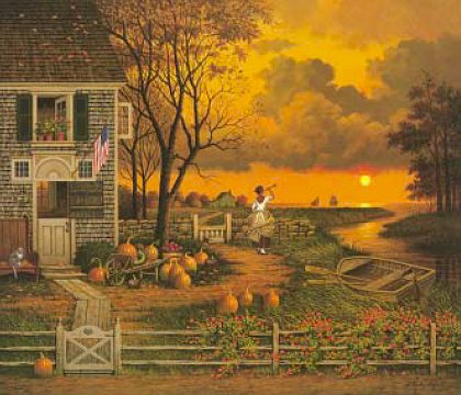 """Charles Wysocki Legacy Collection Limited Edition:""""Supper Call"""""""