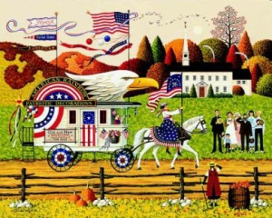 "Charles Wysocki Limited Edition Print: ""So Proudly We Hail"""