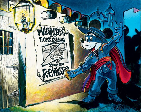 """Chaz Hand Signed and Numbered Limited Edition Disney Gallery Wrap Canvas Giclee:""""The First Tagger"""""""