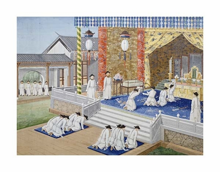 """Chinese School Fine Art Open Edition Giclée:""""Scenes from Imperial Court Life. 19th Century"""""""