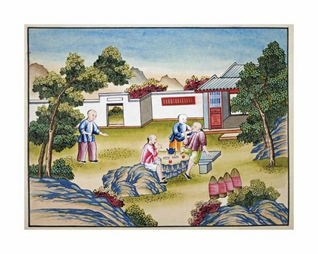 """Chinese School Fine Art Open Edition Giclée:""""Workers Meal Time"""""""