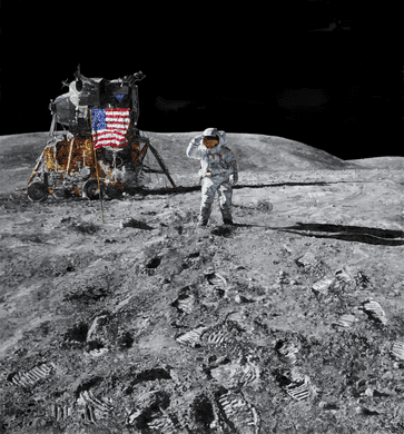 "Chris Calle Hand Signed and Numbered Limited Edition Giclee on Canvas:""Apollo 16 - Descartes Highlands"""