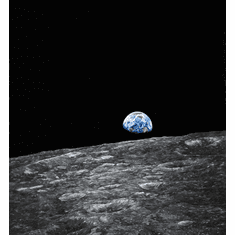 """Chris Calle Hand Signed and Numbered Limited Edition Giclee on Canvas:""""Earthrise - Apollo 8"""""""