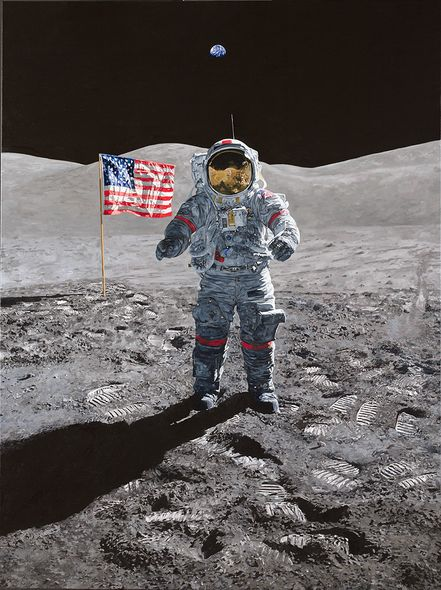 """Chris Calle Hand Signed and Numbered Limited Edition Giclee on Canvas:""""Last Man - Gene Cernan"""""""