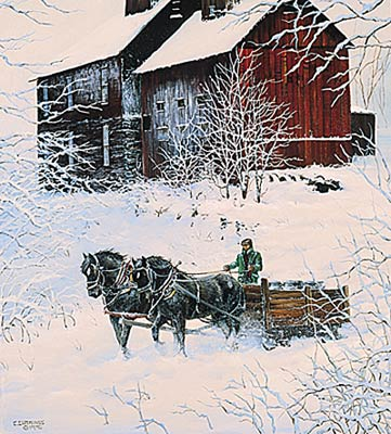 """Chris Cummings Limited Edition Print:""""Winter Delivery"""""""