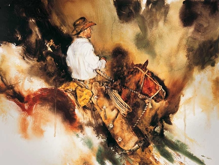 """Chris Owen Hand Signed and Numbered Limited Edition Giclee:""""Working the Coulee"""""""