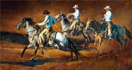 """Chris Owen Hand Signed and Numbered Limited Edition Giclee:""""Riding for the Brand"""""""