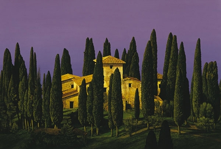 """Chris Young Handsigned and Numbered Limited Edition  Print:""""Tuscan Villa """""""