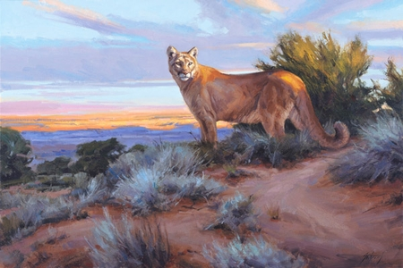 """Edward Aldrich Artist Hand Signed Limited Edition Giclee on Paper and Canvas:""""His Territory"""""""