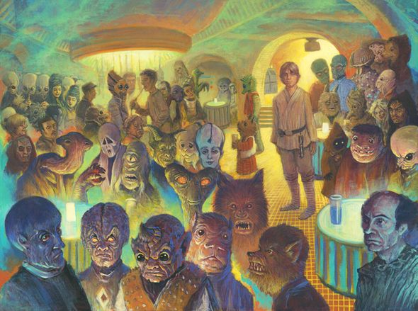 "Christian Slade Artist Signed and Numbered Limited Edition Star Wars Giclee:""What a Weird Place(Canvas)"""