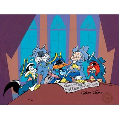 "Chuck Jones Animation Art Limited Edition Cel:""Ducklaration"""