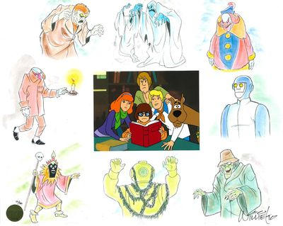 """Hanna-Barbera Limited Edition Hand-Painted Cel:""""Scooby Pack Attack"""""""