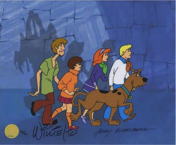 "Hanna-Barbera Limited Edition Hand-painted Cel:""Scooby Doo, Where Are You! 50th Anniversary"""