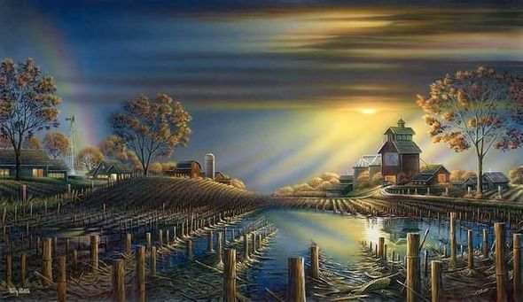 """Terry Redlin Hand Numbered 2019 Time Limited Edition Print:""""After the Storm"""""""
