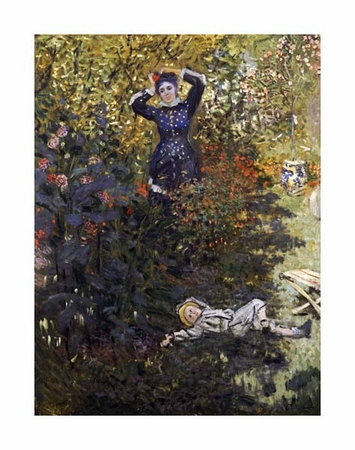 """Claude Monet Fine Art Open Edition Giclée:""""Camille and Jean in the Garden at Argenteuil"""""""