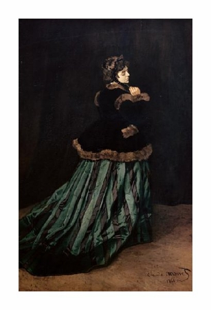 "Claude Monet Fine Art Open Edition Giclée:""Camille, the Woman in Green"""
