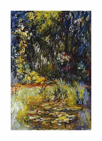 "Claude Monet Fine Art Open Edition Giclée:""Corner of a Pond with Waterlilies"""